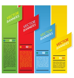 Colorful Vertical Banners vector image vector image