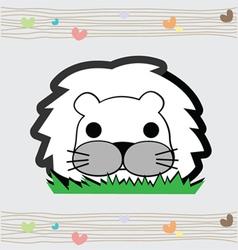 Cute little lion vector image