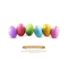 Easter eggs isolated on white background element vector