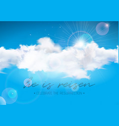 Easter holiday with cloud on blue sky vector