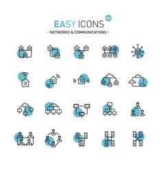 Easy icons 06d networks vector