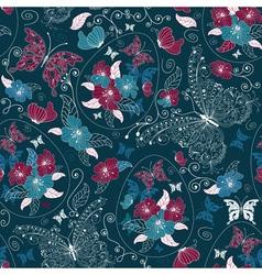 ester floral pattern vector image