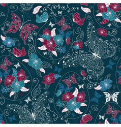 ester floral pattern vector image vector image