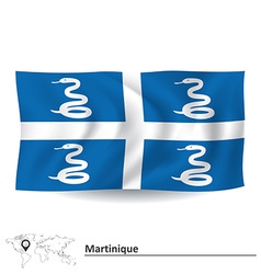 Flag of Martinique vector image