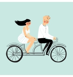 flat design happy young man and woman vector image vector image