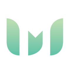 letter m eco leaves logo icon design vector image vector image