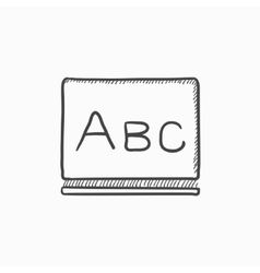 Letters abc on blackboard sketch icon vector image