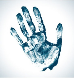 Man Blue Print of hand vector image
