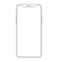 outline drawing phone line style design vector image
