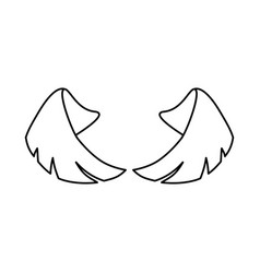 pair of wings vector image vector image