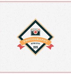 Photography Logo Design Template Retro Badge or vector image
