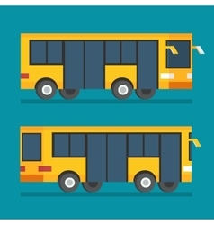 Public transport bus transportation icon flat vector