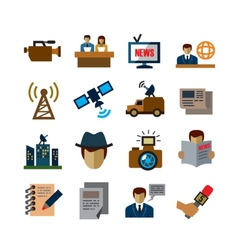 Reporter icons vector