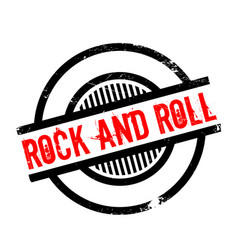 rock and roll rubber stamp vector image