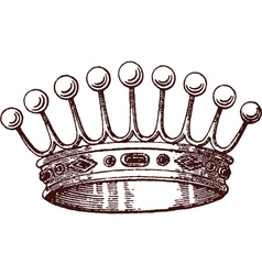 Royalty icon vector