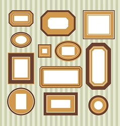 Set of colored frames vector image vector image