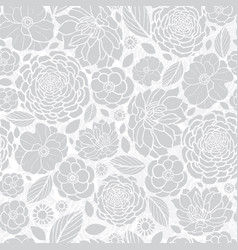 silver grey white mosaic flowers seamless vector image