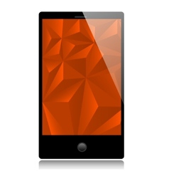 Smart phone with red background vector