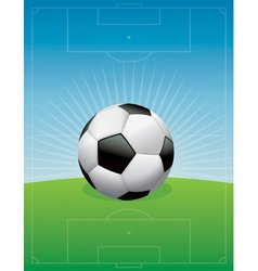 Soccer ball and field vector