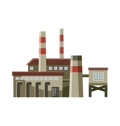 Big factory with pipes icon cartoon style vector
