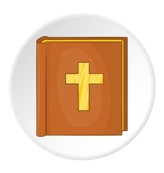 Bible icon cartoon style vector