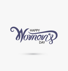 Pink happy womens day typographical design vector