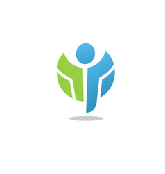 active figure logo vector image