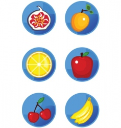 Icons fruits vector