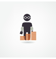 Accountant icon vector