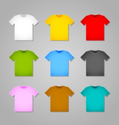 Simple T-shirt templates vector image