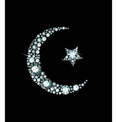 Diamond islam symbol vector