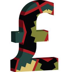 3d pound symbol vector