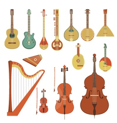 Stringed musical instruments vector