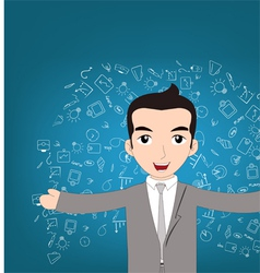 Man successful of business vector