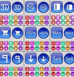 3d countdown notebook shopping cart discount max vector