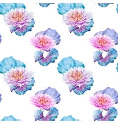 Lotus flowers pattern vector