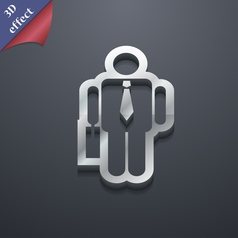 Businessman icon symbol 3d style trendy modern vector