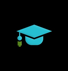 Graduation hat education logo vector