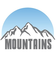 Tourism travel logo template abstract mountains vector