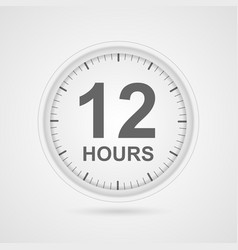 12 hours customer service icon vector