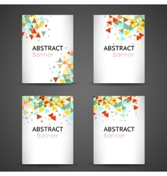 Colorful geometric abstract background set vector