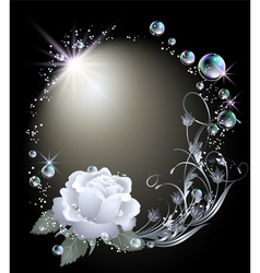 Rose stars and bubbles vector