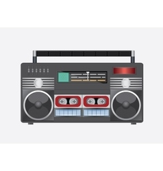 Vintage radio tape vector