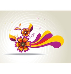 Abstract flower art vector image vector image