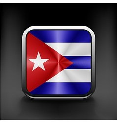 An isolated circular flag of cuba vector
