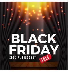 Black friday sale banner background vector