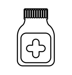Bottle drugs isolated icon vector