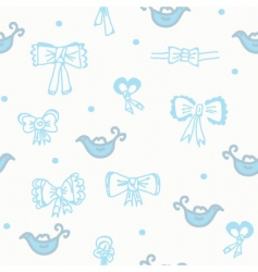 bows blue vector image vector image