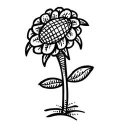 Cartoon image of flower icon spring symbol vector