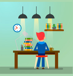 Creative people freelancer working man vector